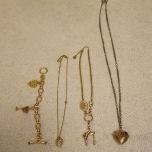 Juicy couture jewelry lot- 4 items